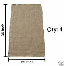 4 - 22x36 Burlap Bags, Burlap Sacks, Potato Sack Race Bags, Sandbags, Gunny Sack