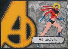 2012 Marvel Beginnings 2 Avengers Die-Cuts Trading Card #A27 Ms. Marvel