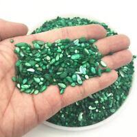 50g Emerald Green Shell Quartz Crystal Stone Chips Rough Rock Polished Healing
