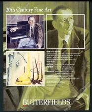 2003 Clyfford Still Gentleman at Piano & abstraction painting vintage print ad