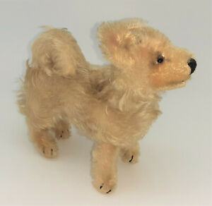 1958 Steiff Laika Spitz dog, cute! with button, no tag or collar