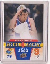 2013 Upper Deck Kansas Final 4 Legacy #F48 Kirk Hinrich Mint Jayawks KU SP