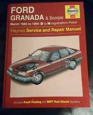 Vtg Workshop manual ford granada mk3 and Scorpio petrol 1985-94 B to M reg