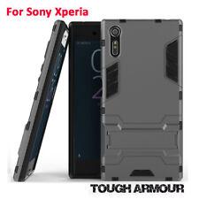 For Sony Xperia X XA XZ E5 XZ1 Kickstand Tough Armour Heavy Duty Hard Case Cover