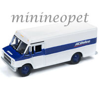 JOHNNY LIGHTNING JLSP063 ACDELO 1990 GMC STEP VAN 1/64 WHITE BLUE