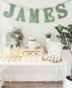 Personalised 1.5M Any Name Letter Bunting Birthday Gift Cute Baby Shower Banner
