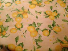 nappe tissu enduit au mètre motif citron 160 de large fin de stock