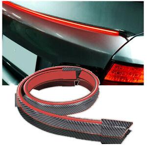 12V 120cm LED Spoiler Lip Wing Trim Brake Tail Light For Car Carbon Fiber Style