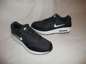 New Nike CI7576-001 Men's Air Max 1 G Spikeless Golf Shoes Size 7.5 Black
