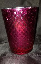 Tea light candle holder pink ankyo shiny
