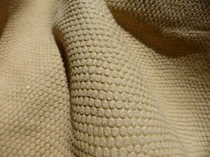 Goatskin leather hide Natural color Armadillo embossed butter soft strong