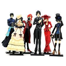HOT Anime Kuroshitsuji Black Butler Set 6x Characters Action Figure Model Doll