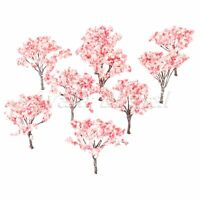 20Pcs Blossom Cherry Model Trees Scenery Railroad Layout Scene HO OO Scale 65mm