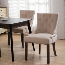 Dining Chairs Elena Tufted Upholstered In Velvet Fabric,PS Global SET OF 2 & 4