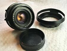 Leica 35mm Summicron M f/2 Lens with Hood