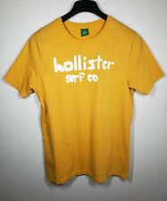 Men's Pre-owned Hollister Surf Co Yellow Shortsleeve Crew Neck Tshirt XL