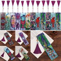Stitch Diamond Painting Bookmark Tassel Book Marks Special Shape Rhinestones
