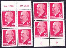 Briefmarken DDR MiNr 935 XxI 2x (OR1+UR2) aus DM Bogen  W.Ulbricht **