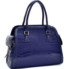 New Dasein Croco Leather Satchel Handbag Briefcase Purse Hobo Totes Shoulder Bag