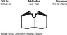 EBC Redstuff Ceramic Brake Pad Set Front-Rear for Porsche / Ferrari / Maserati