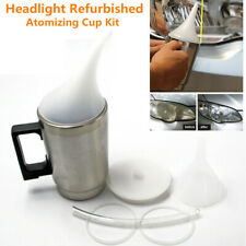 Car Auto Headlight Lens Atomizing Cup Polish Repair Tool Restoration Restore Kit