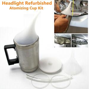 Car Auto Headlight Lens Atomizing Cup Polish Repair Tool Restoration Restore Kit