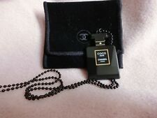 RARE CHANEL CC COCO NOIR BOTTLE PENDANT NECKLACE LIMITED VIP GIFT COLLECTIBLE !!