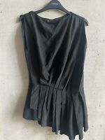 Vionnet Black Pleated Blouse Shirt Top Size 40