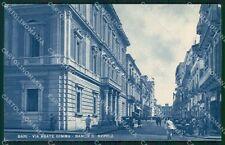 Bari città Via Abate Gimma PIEGA cartolina QT4976