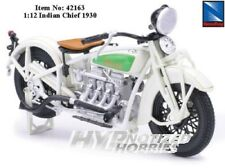 NEWRAY MOTORCYCLES 1:12 INDIAN CHIEF DIE-CAST WHITE 42163