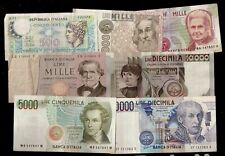 Lotto Banconote ITALIANE REPUBBLICA TOTALE 28500 LIRE SPEDIZIONI COMBINATE