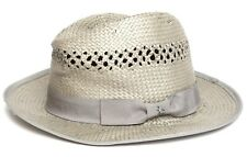 138ac526f3bb1 Original Penguin Mens Grey Lazaro Straw Fedora Sz L XL 1002
