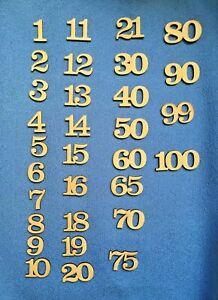 Wooden MDF  Birthday Celebration Anniversary Numbers  blank craft shapes