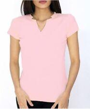 Women's Short Sleeve V Neck Soft Blouse