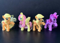 My Little Pony Lot of Minis: 2 Applejack Ponies, Twilight Sparkle, Fluttershy
