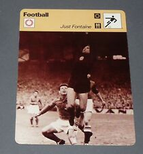 FICHE FOOTBALL 1956 FRANCE-HONGRIE JUST FONTAINE STADE REIMS GROSICS