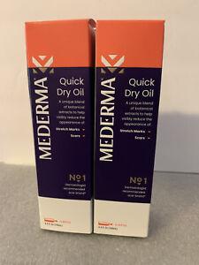 2- 3.4 oz Bottle MEDERMA QUICK DRY OIL-Skin Care-Scars, Stretch Marks, Dry Skin