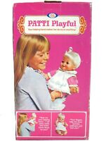 Vintage Ideal Patti Playful Baby Doll Platinum Playpal Family w/Box & Insert