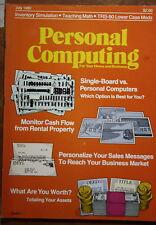 magazine, nostalgic, collectible, Personal Computing 1980-07
