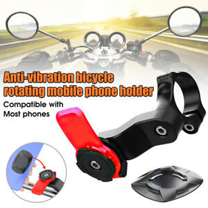Quad Lock Out Front Motorcycle Bike Twist Mountain Cradle Cycling Phone Holder