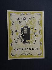 Rare Ancienne carte parfumée CLERSANGES PARIS Parfum Plaisir d'aimer