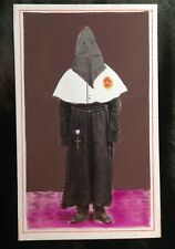 Costume Skull Rome Holy Week Mourning Strange Spooky Tinted Cdv Photo Nazarene