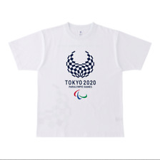 Tokyo 2020 Paralympic Games Official Unisex Cropping back print T-shirt White XL