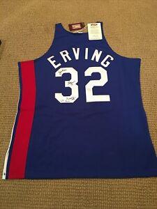 Julius Erving Signed Mitchell & Ness 1973 -74 ABA New Jersey Nets #32 Fanatics