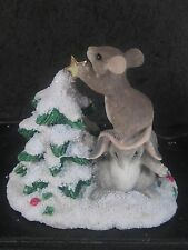 Charming Tails Silvestri Teamwork Helps Mouse Rabbit Decorating Tree