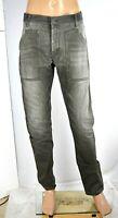 Jeans Uomo Pantaloni TIGER OF SWEDEN SA647 Gamba Dritta Grigio Sbiadito Tg 34