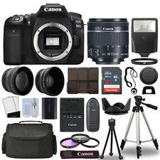 Canon EOS 90D DSLR Camera Body + 3 Lens Kit 18-55mm IS STM + 16GB + Flash & More
