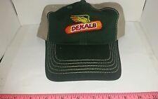 DEKALB SEED CORN SPRUCE GREEN & KHAKI TWILL Logo CAP HAT BRAND NEW FREE SHIP