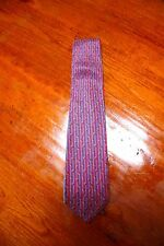 GUCCI Authentic Silk Tie ~ Vintage Blue and Red Stripe ITALY - MINT!!!!