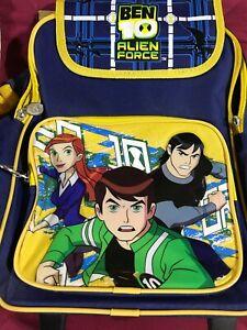 "NEW Anime Ben10 Alien Force Cartoon Network Rolling Backpack 14.5"" x 10"" x 5"""